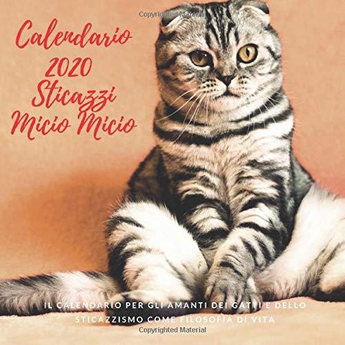 Calendario 2020 StiCazzi Micio Micio: Il Calendario da muro 2020 per gli Amanti dei Gatti e dello Sticazzismo come Filosofia di Vita