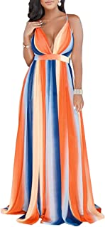 Women's Boho Sleeveless Tie-Dye Maxi Dress Tank Dress ¡
