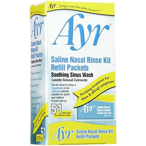Ayr Saline Nasal Rinse Kit Soothing Sinus Wash -...