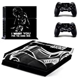 Homie Store PS4 Pro Skin - Ps4 Skins - Ps4 Slim Sticker - Star Wars Darth Vader PS4 Skin Sticker Decal for Sony Playstation 4 Console and 2 Controller Skin PS4 Sticker Vinyl Accessory