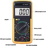 Multimetro Digital Profesional,Voltímetro Amperímetro Ohmímetro Probador Voltaje Multicomprobador AC/DC con Retroiluminación LCD para Laboratorio, Las Fábricas