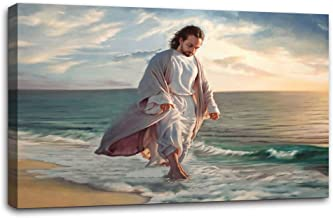 Artwork Paintings Be Still My Soul by Mark Missman Jesus Beach Jesus The Last Supper Wall Art Home Decorations for Living Room Baby Room Pictures Painting On Canvas tretched and Framed Ready to Hang