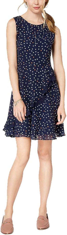 Maison Jules Asymmetrical Flounce Fit & Flare Dress