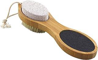 ULTNICE 足ブラシ 角質除去 毛ブラシ?砂ブラシ?軽石ブラシ?鋼ブラシ ボディブラシ フットマッサージ