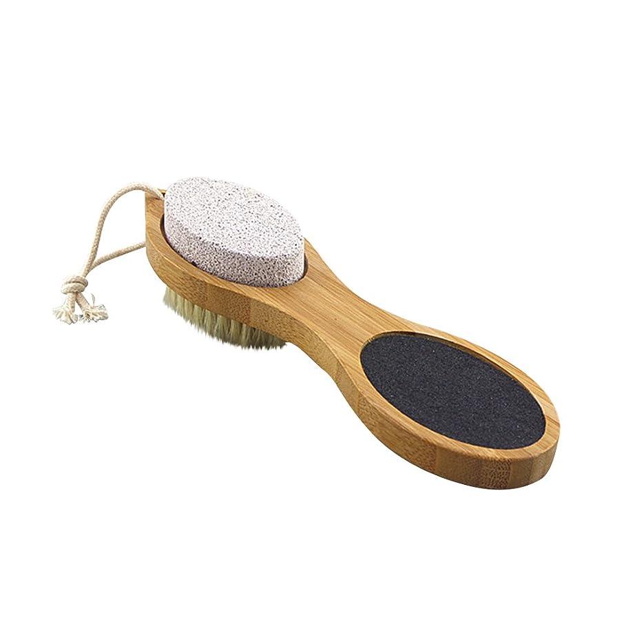 ルーキーに頼るプラグULTNICE 足ブラシ 角質除去 毛ブラシ?砂ブラシ?軽石ブラシ?鋼ブラシ ボディブラシ フットマッサージ