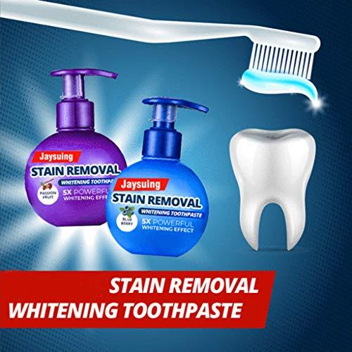 99native [Stain Removal Whitening Zahnpasta] Backpulver Für weiße Zähne, Natürliche Zahnaufhellung, Aktivkohle für die Zähne, Zahnbleaching,Verhindert Karies und stärkt Zähne und Zahnfleisch (Blau)