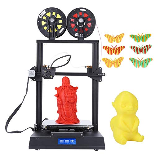 VBESTLIFE Kit Stampante 3D a Doppio Colore Stampante 3D Kit Fai-da-Te di Alta qualità Kit Stampante 3D DIY con Touch Screen livellamento Automatico da 4.3 Pollici(Nero)