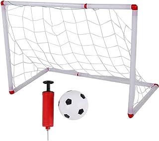 Tbest fotbollsnätverk för barn, fotboll, montering barnfotsbalör och fotbollsnät bärbar utomhussport-barnträningsleksak