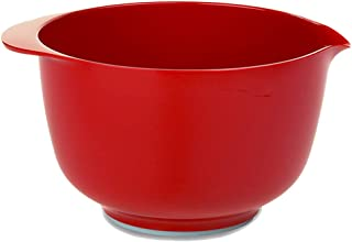 Port-Style Enterprises Inc. RST25060NR Margrethe Melamine Mixing Bowl, 3 Qt, Luna Red