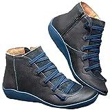 女性の新しいアーチサポートブーツの女性の靴アンクルブーツ秋のPUレザー隠され装具アーチサポート快適なクロスストラッププラットフォームヴィンテージマーティンブーツとパンクレディースブーツ,B,42