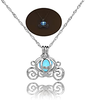 MYANAIL Luminous Hollow Pumpkin Carriage Necklaces & Pendants for Women Glowing Chain Necklace Dropshipping Gifts