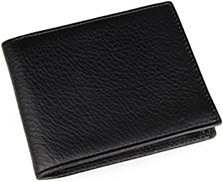 Men's Wallet Simple Classic Collection Vintage Leather Wallet Dotty Horse Leather Poor Wallet Man Wallets (Color : Bronze,...