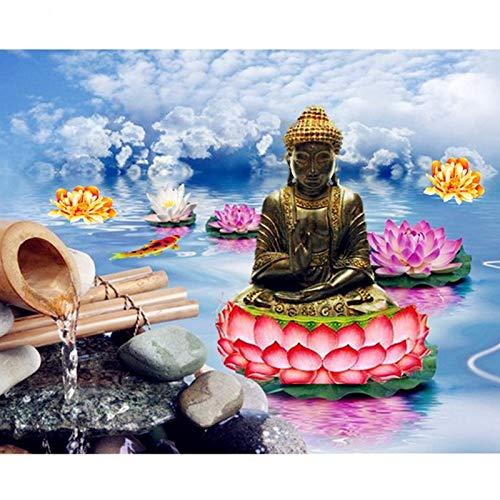 AJleil Puzzle 1000 Piezas Regalo de Pintura de Piscina de Pintura de Buda Puzzle 1000 Piezas Animales Gran Ocio vacacional, Juegos interactivos familiares50x75cm(20x30inch)