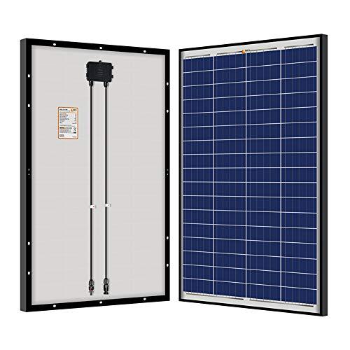 RICH SOLAR 100 Watt 12 Volt Polycrystalline Solar Panel Black Frame for RV Trailer Camper Boat Off Grid