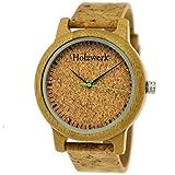 Holzwerk Germany® - Reloj de pulsera unisex para hombre y mujer, ecológico y natural, con correa de corcho y esfera (marrón)