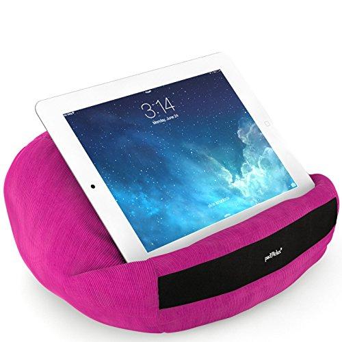 padRelax® Casual Pink Tablet Kissen bis 10.5 Zoll, Made in Germany, für Bett, Sofa, Tisch und kompatibel Tablet, eReader, Buch