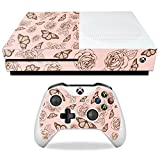 MightySkins Skin Compatible with Microsoft Xbox One S - Butterfly Garden | Protective, Durable, and Unique Vinyl Decal wrap Cover | Easy to Apply, Remove, and Change Styles | Made in The USA