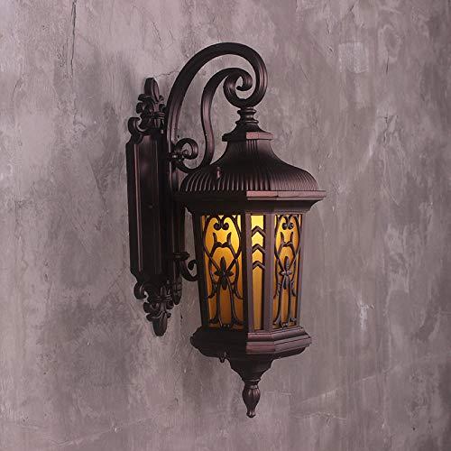 Powzz - Lámpara de pared para exteriores (impermeable)