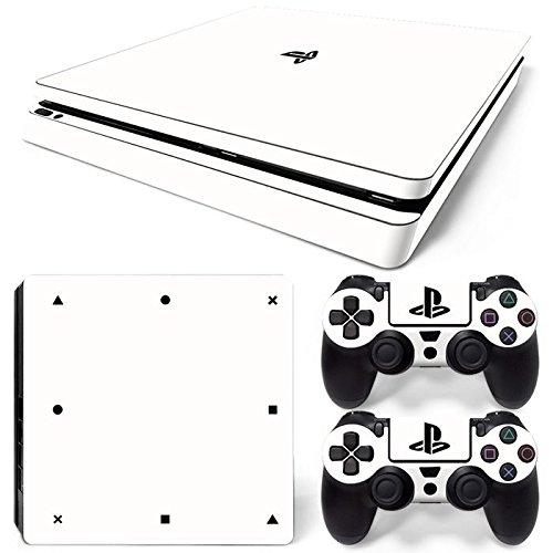 46 North Design Playstation 4 PS4 Slim Folie Skin Sticker Konsole White aus Vinyl-Folie Aufkleber Und 2 x Controller folie