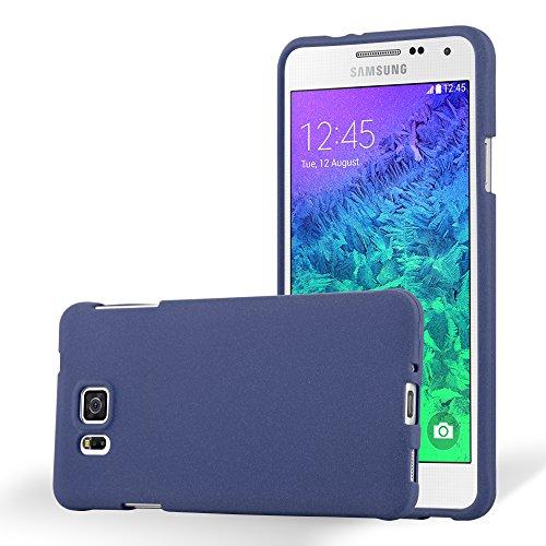 Cadorabo Hülle für Samsung Galaxy Alpha - Hülle in Frost DUNKEL BLAU – Handyhülle aus TPU Silikon im matten Frosted Design - Silikonhülle Schutzhülle Ultra Slim Soft Back Cover Case Bumper
