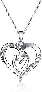 Tarsus Love Pendant Necklace for Women Girls Girlfriends Wife Gift Diamond Jewelry Nickel Free Dainty Style