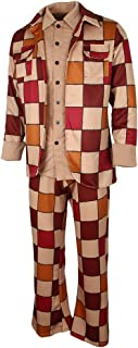 Baosity Unisex Retro Plaid 70s Disco Diva Dancer Couple Costume Party Sleazeball Outfits