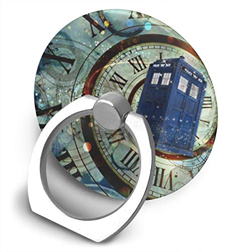 QSIXH Doctor Dr Who Police Box Mice Custom Design Cool Gaming Mousepd Mouse Pad Mat 12 360 Rotating Phone Metal Buckle Tablet Finger Grip Ring Stand Holder Kickstand for All Phones Tablets