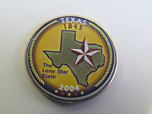 2004 Various Mint Marks Texas State Colorized Quarter Choice Uncirculated