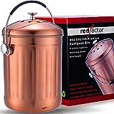RED FACTOR Premium Cubo Reciclaje de Cocina Inodoro de Acero Inoxidable - Cubo...