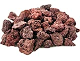 Venetian Princess Lava Rocks - Decorative Landscaping Rocks or Gas Fire Pits Rocks, 3/4' (.75') (40 Lbs, Red Lava Rock)