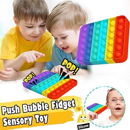 FUNSHINNY Fitget Toys Pop It Juego para adultos y niños, juguete sensorial, para autismo, necesidades especiales, alivio del estrés, Popoit Figet Speelgoed (color: elipse)