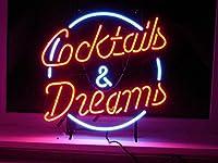 LiQi【COCKTAILS AND DREAMS】ネオン 看板 NEON SIGN (縦35cmX横45cm)