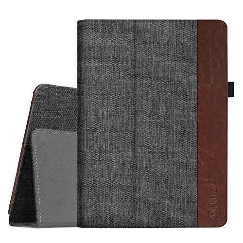 Fintie Hülle Hülle für Huawei Mediapad T3 10 - Ultra Schlank Folio Stoff Schutzhülle Hülle mit Standfunktion für Huawei MediaPad T3 (9,6 Zoll) 24,3 cm Tablet-PC, Denim dunkelgrau