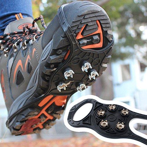 Bluelover Extérieur 5 Dents 8 Type Crampons Antidérapants Chaussures Anti-Dérapantes Couverture Neige Urban Ongles Outils