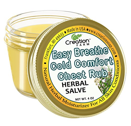 Creation Farm Herbal Chest Rub Easy Breathe- Aromatherapy for Cough,...