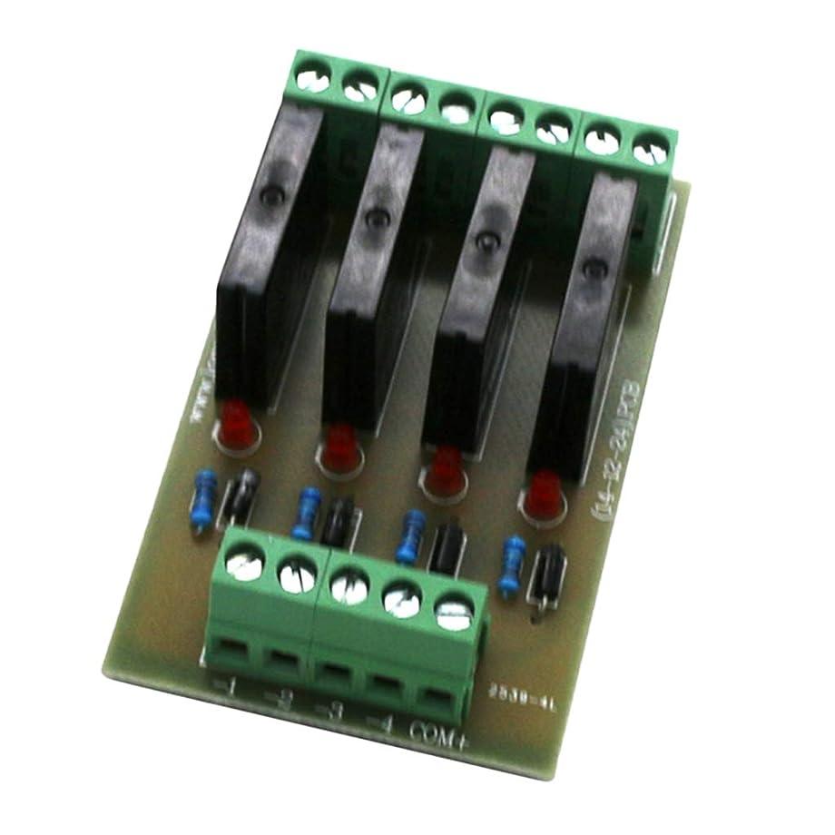 相反するママハンドブックF Fityle ソリッド リレーモジュール ドライバボード ハイレベルトリガ 4チャンネル 12V 24V 全2タイプ - 24V