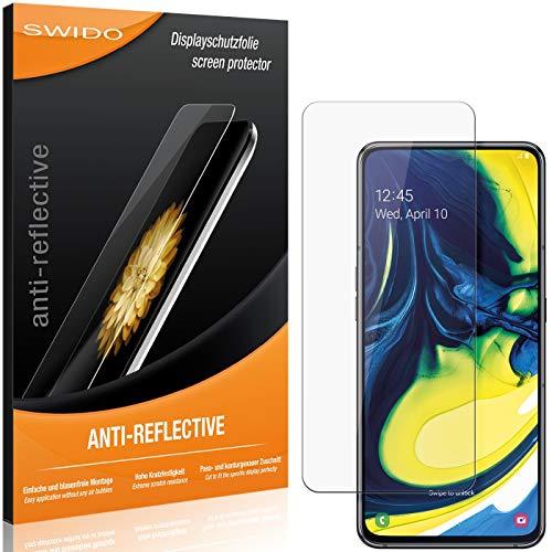SWIDO Schutzfolie für Samsung Galaxy A80 [2 Stück] Anti-Reflex MATT Entspiegelnd, Hoher Festigkeitgrad, Schutz vor Kratzer/Folie, Bildschirmschutz, Bildschirmschutzfolie, Panzerglas-Folie