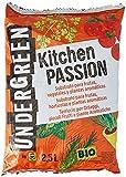 Undergreen Kitchen PASSION Terriccio per Ortaggi, Piccoli Frutti e Piante Aromatiche, Consentito in Agricoltura Biologica, 2.5 l