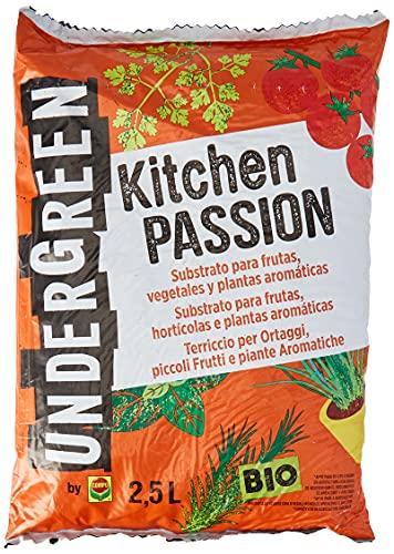 Undergreen Kitchen PASSION Terriccio per Ortaggi, Piccoli Frutti e Piante Aromatiche, Consentito in...