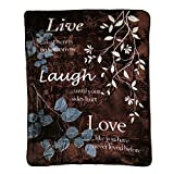 Shavel Hi Pile Luxury Oversized Throw, Live Laugh Love, 60x80