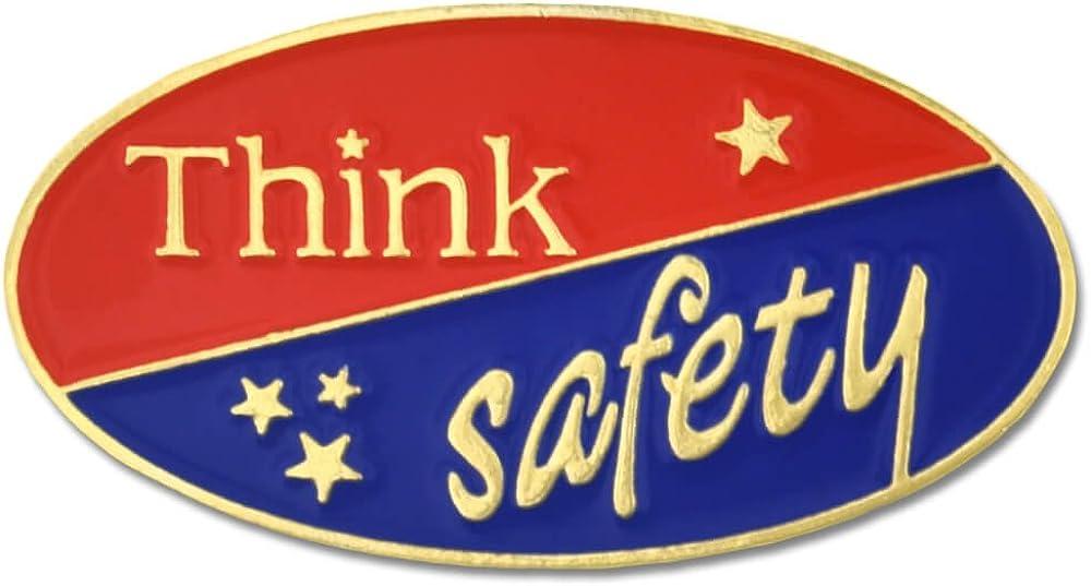 PinMart Think Safety Award Enamel Lapel Pin
