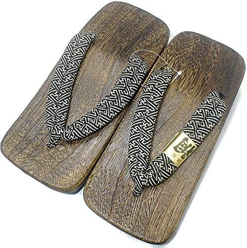 PC Hardware Store [Japón Hecho] para Hombre Geta Paulownia Sandalias de Madera Tradicional de Calzaño básica negro Diseño Talla 30 cm L