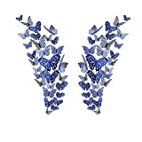 Allazone 96 Pz 3D Mariposas Pegatinas de Pared Mariposas 3D Mariposas Decorativas Decoraciones de Mariposas para Habitación Inicio Aula Oficinas Decoración de dormitorio, Azul Verdoso