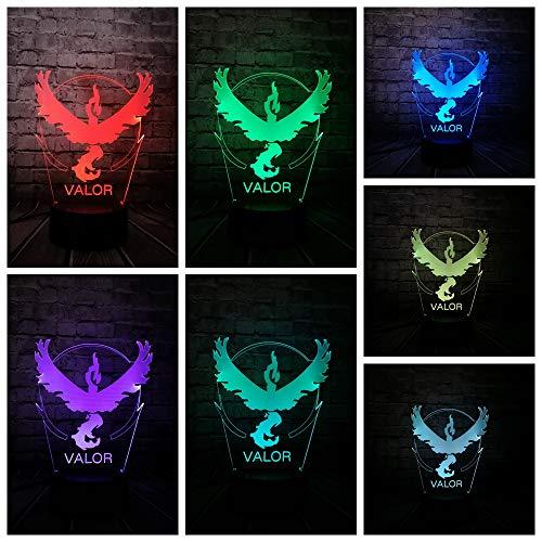 Kinder Geschenk Jungen Mädchen Schlafzimmer Lampe Haustier Figur 3D Nachtlicht LED Schildkröte Vogel Drachen Geschenk