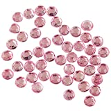 VAGA 48 Piedras Adhesivas Rosas para Usar como Decoracion De Pelo para Mujer Y Niñas, Diamantes para El Pelo, Puede Usarse como Tocado En Moño, Pelo Recogido O Suelto, Excelente Opción De Regalo