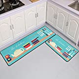 HLXX Felpudo de Dibujos Animados Simple Alfombra de Piso de Cocina Felpudo de Entrada baño Antideslizante Alfombra Larga Alfombra Lavable A5 40x60cm