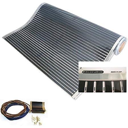 Calorique – Láminas de Calefacción por Suelo Radiante 100cm 90W/m² establece de 1m² Solución en Calefacción Efectiva y Ahorradora de Energía para el Hogar