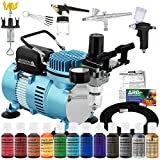 Master Airbrush Cool Runner II Dual Fan Air Compressor Pro Cake Decorating System Kit with 3...