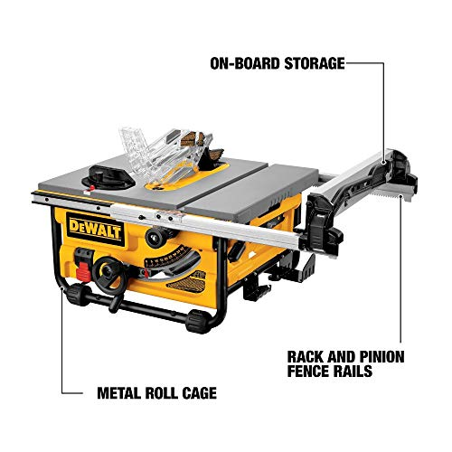 DEWALT DW745-GB Heavy Duty Table Saw, 250 mm