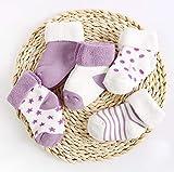 CMDDYY Calcetines de bebé, Grueso cálido recién Nacido bebé Calcetines Femeninos niños algodón 0-1-3 años de Edad 6-12 Meses,H,M